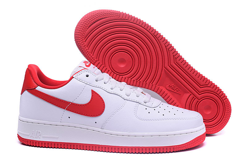 air force 1 blanche rouge et or